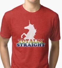 Totally Straight Tri-blend T-Shirt