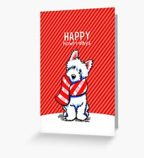 Westie Plaid Scarf Happy Howl-i-days Greeting Card