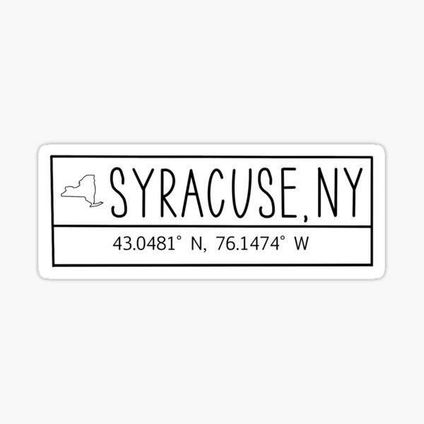 Syracuse New York Coordinates Sticker