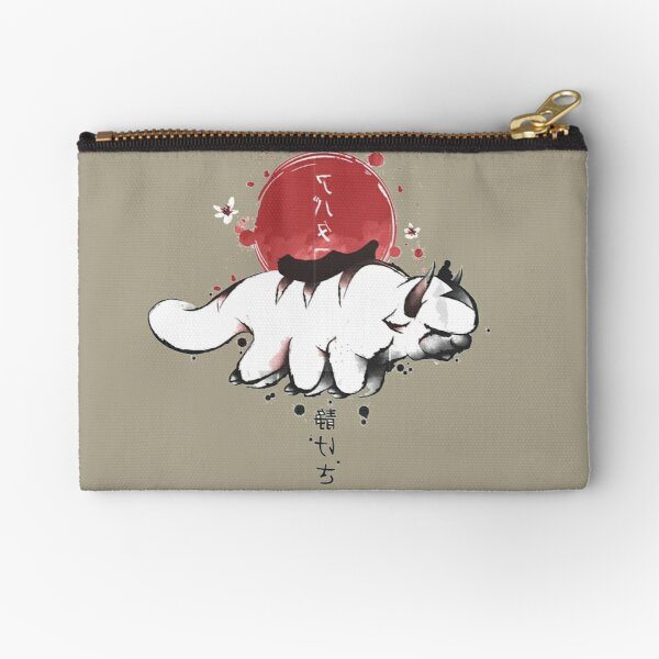 Appa Flying Through Blossoms Zipper Pouch
