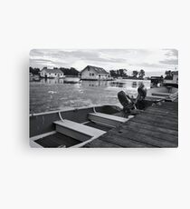 An Evening at the Lake Canvas Print
