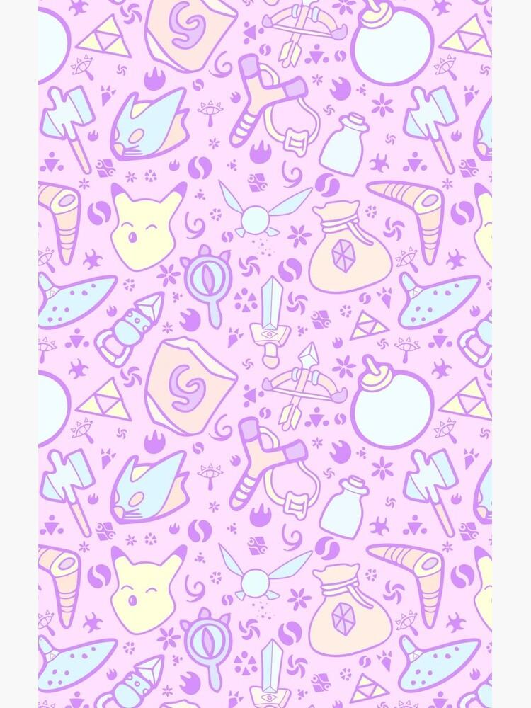 Zelda Doodlez (Pink Pastel ver.) by Leeharebbeccah