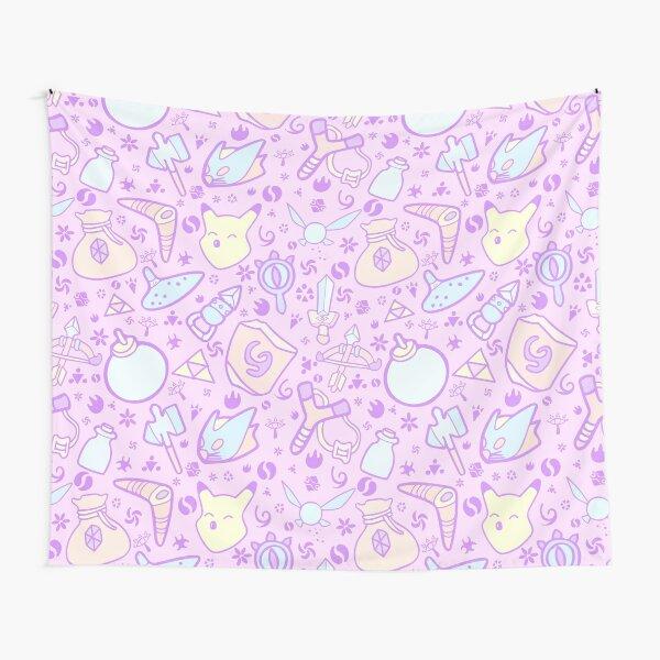 Zelda Doodlez (Pink Pastel ver.) Tapestry