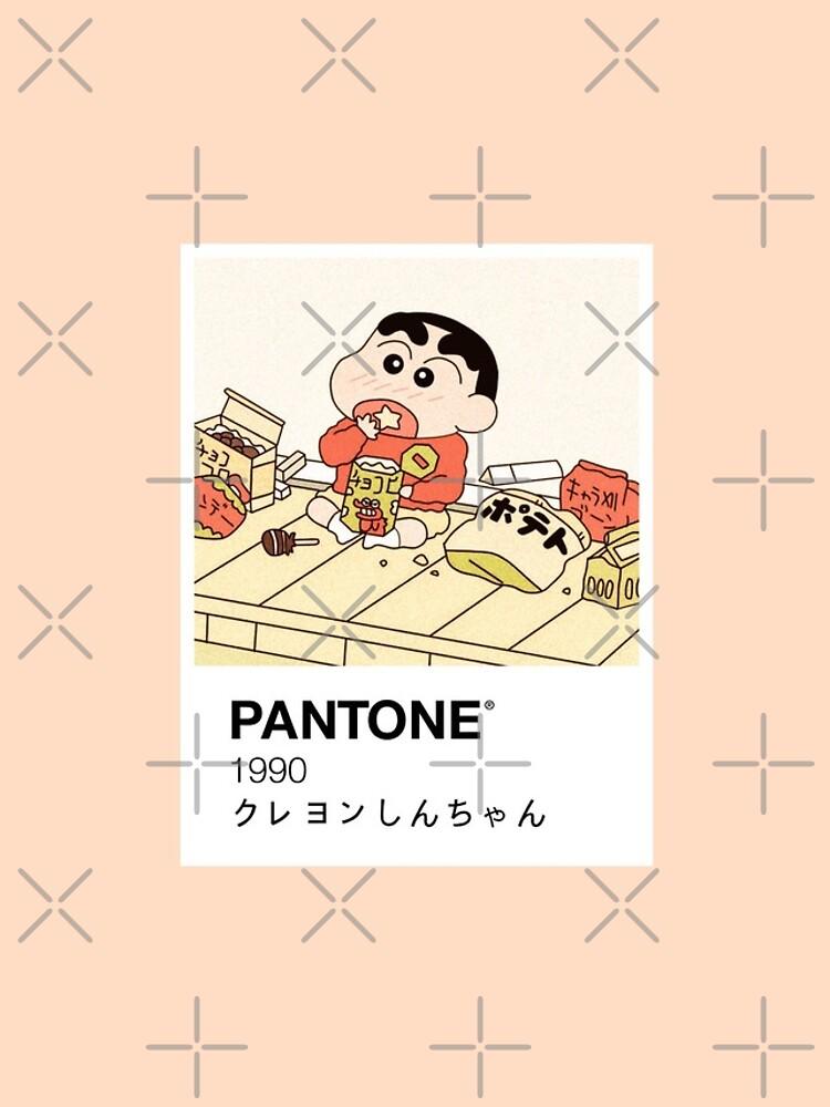 Shin Chan Enjoying Snacks Pantone by vol-80808