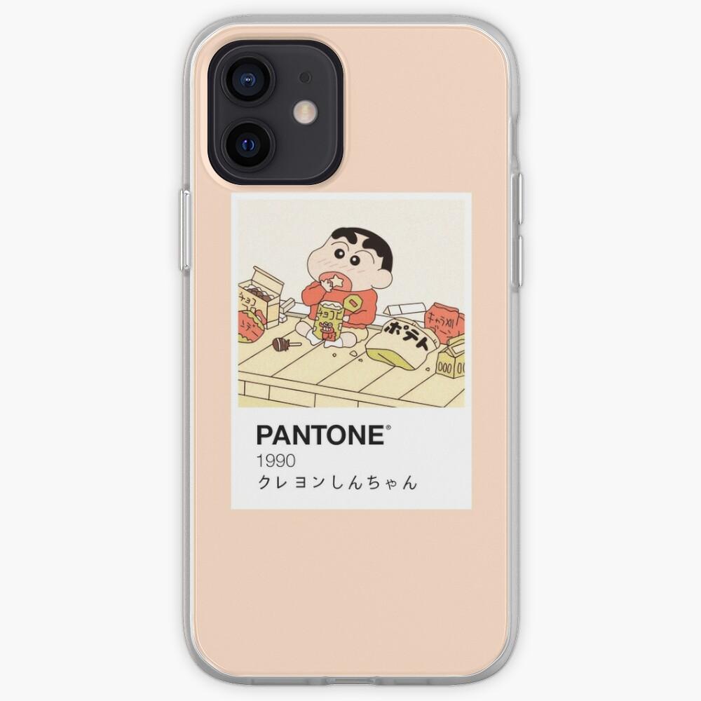 Shin Chan Enjoying Snacks Pantone iPhone Case & Cover