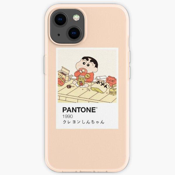 Shin Chan Enjoying Snacks Pantone iPhone Soft Case