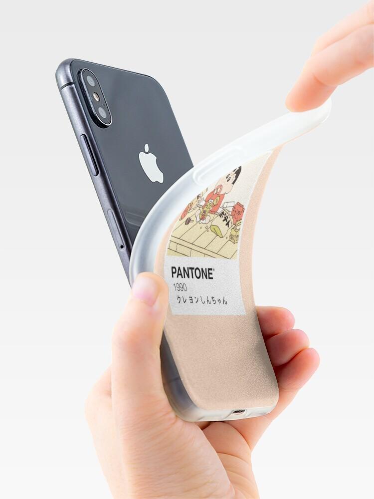 Alternate view of Shin Chan Enjoying Snacks Pantone iPhone Case & Cover