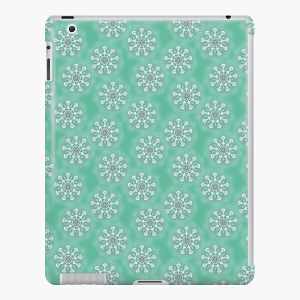 Funky Flowers On Green iPad Snap Case