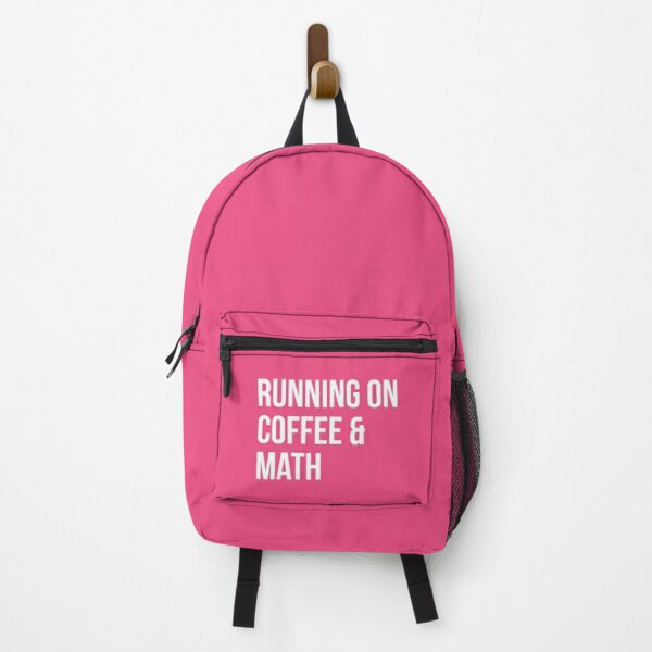 Running on Coffee and Math for Women Backpack