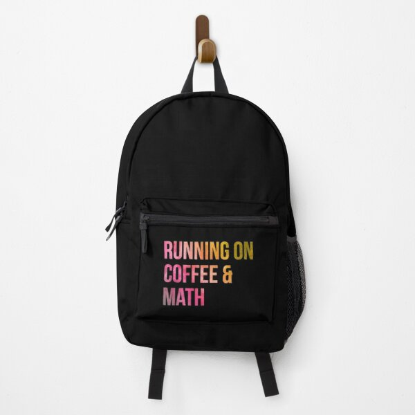 Running on Coffee and Math in Watercolor Backpack