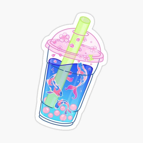 Sakura bubble tea Sticker