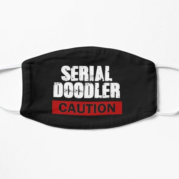 Serial Doodler Caution Flat Mask