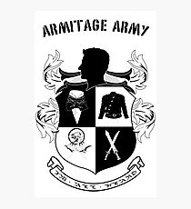 Armitage Army CoA -txt- Photographic Print