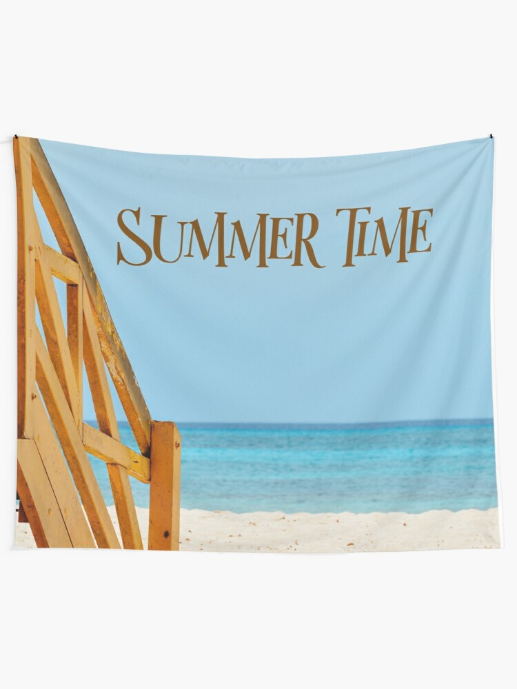 Alternate view of Summer Time Tapestry  Tapestry