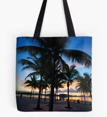 Palm Trees in Miami Tote Bag