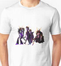 Ancestors: Eridan/Dualscar, Feferi/Condesce, Gamzee/Highblood Unisex T-Shirt