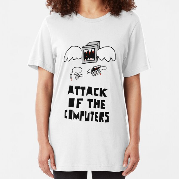 Attack of the Computers Slim Fit T-Shirt