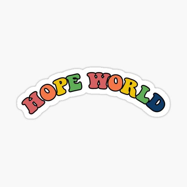 Impresión de letras del mundo de esperanza Pegatina