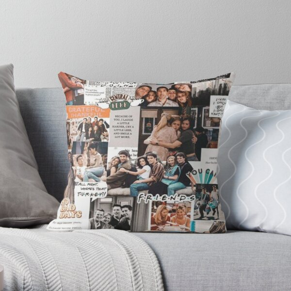 friends wallpaper Throw Pillow