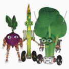 Valxart  fudebots BeetBot, BroccoliBot  by Valxart