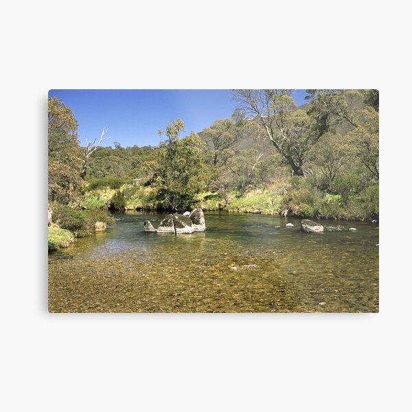 Thredbo River, Snowy Mountains, Australia Metal Print