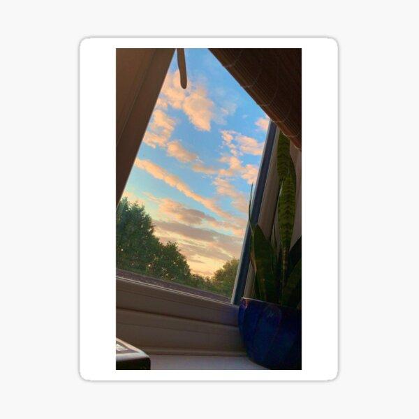 window at sunset Sticker