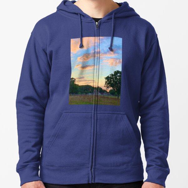 sunset  Zipped Hoodie