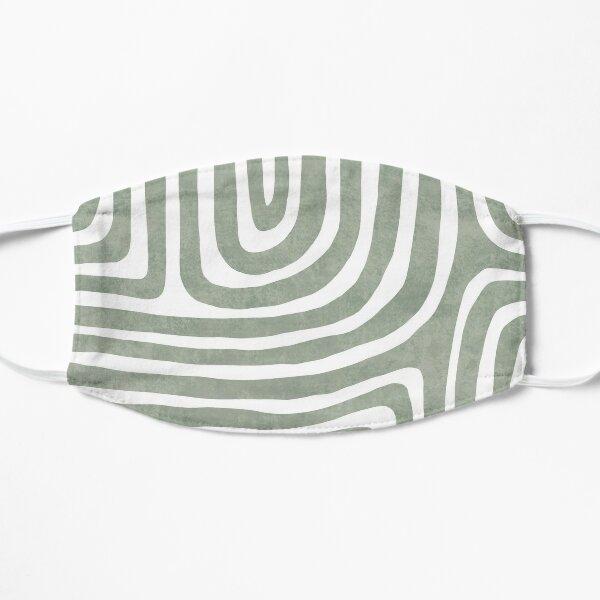 Sage green line art Flat Mask