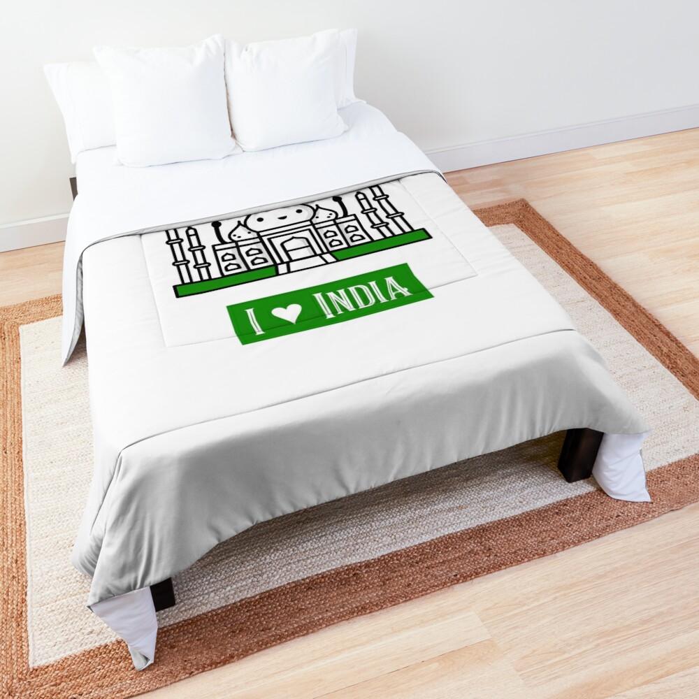 I Love India Comforter