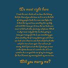Will you marry me by Jboo88