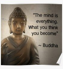 Enlightened Buddha Quote Poster