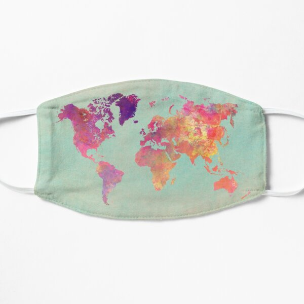world map 102 #worldmap #map Flat Mask