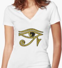 EYE OF HORUS - Protection Amulet Women's Fitted V-Neck T-Shirt
