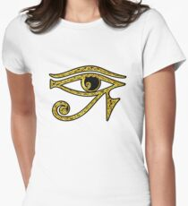 EYE OF HORUS - Protection Amulet Women's Fitted T-Shirt