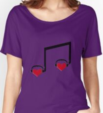 Music Connects Us to Our Soulmates Women's Relaxed Fit T-Shirt