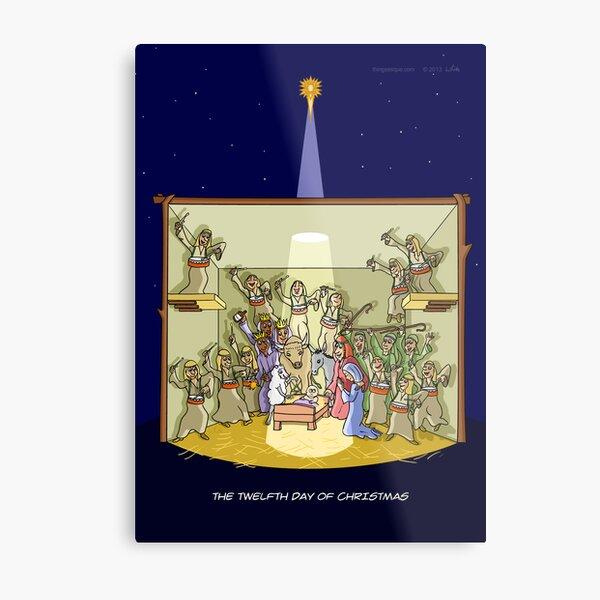 The Twelfth Day of Christmas (12 Drummers Drumming) Metal Print