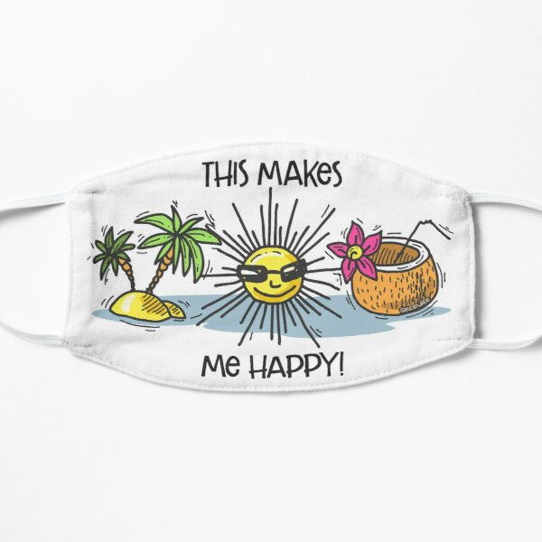 The Beach Makes Me Happy Mask