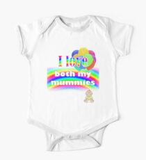 I love both my mummies: lesbian parenting Short Sleeve Baby One-Piece