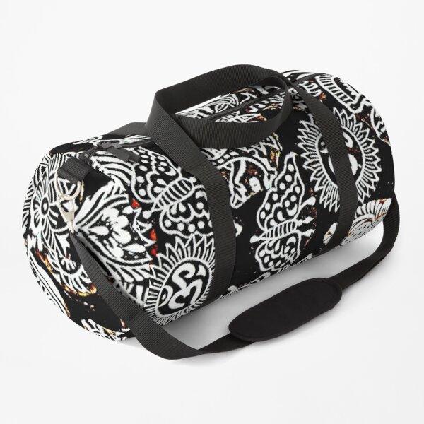 black and white art Duffle Bag
