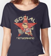 Social Networking - Vintage Women's Relaxed Fit T-Shirt