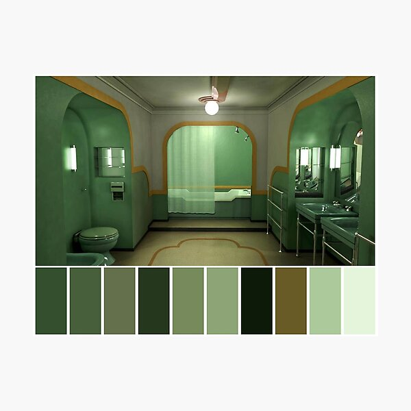 The Shining Color Pallet Photographic Print