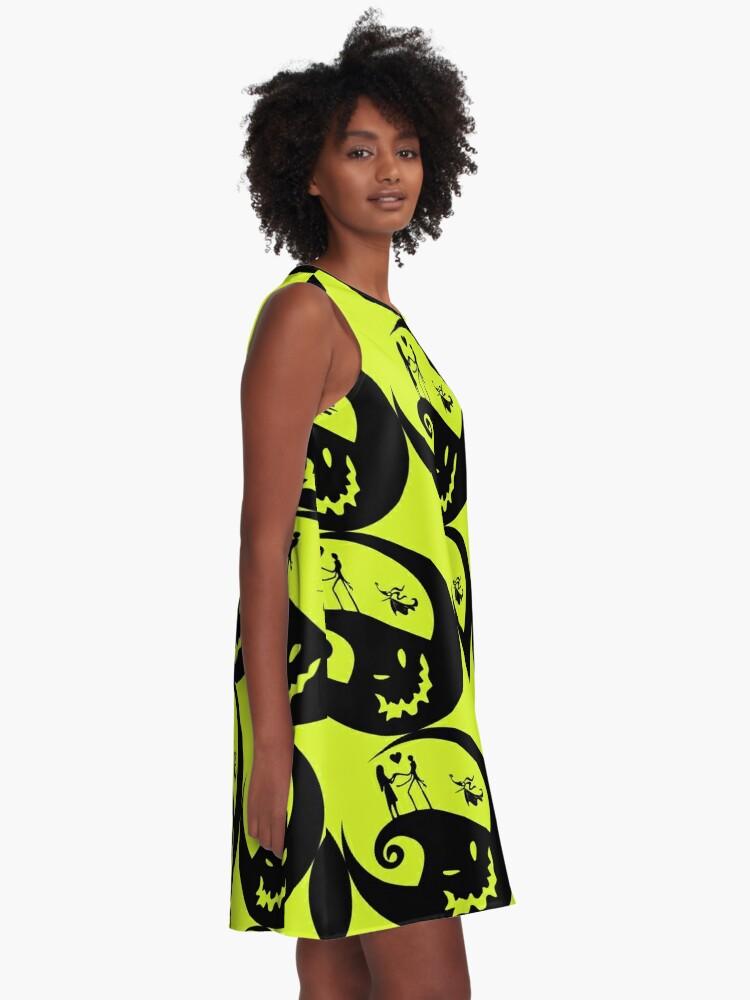 Alternate view of Jack skellington A-Line Dress