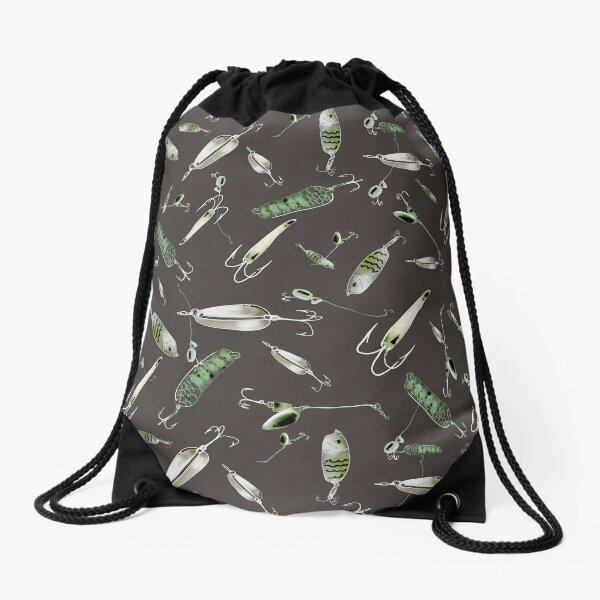 fishing gear Drawstring Bag