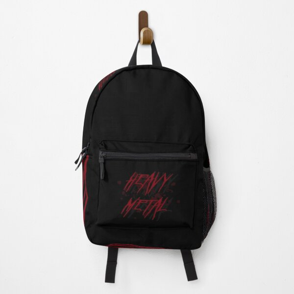 Dark Red Heavy Metal Logo Backpack