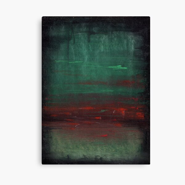Green and Red Field Canvas Print