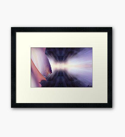 Strike in purple light Framed Print