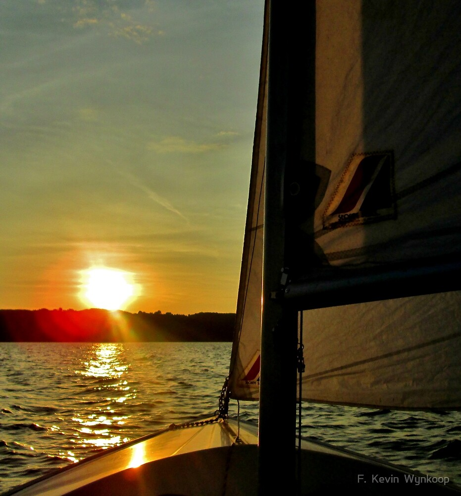 Last sail for the Summer, East Bay, Traverse City, MI by F.  Kevin  Wynkoop