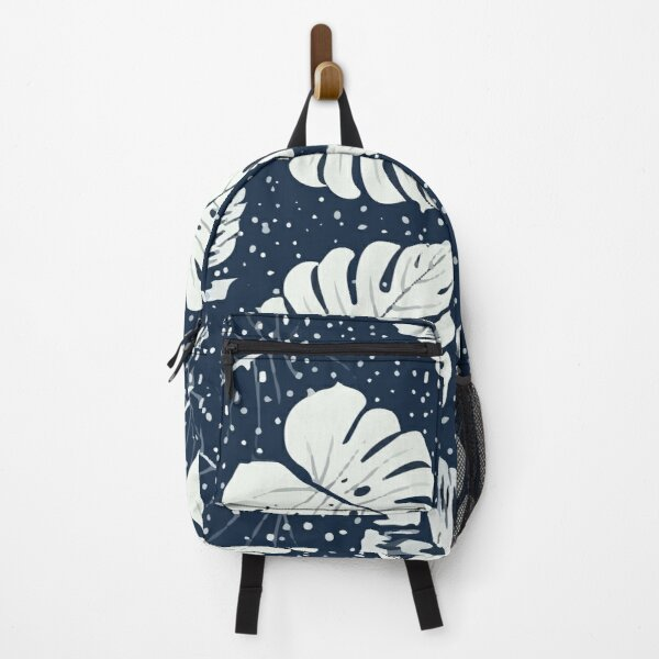 Botanical Leaves Abstract Background Backpack