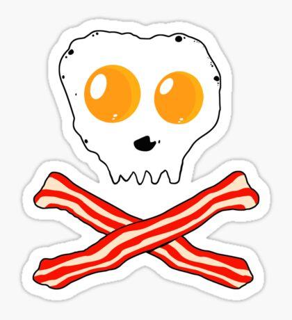 Bacon & Eggs Skull Sticker