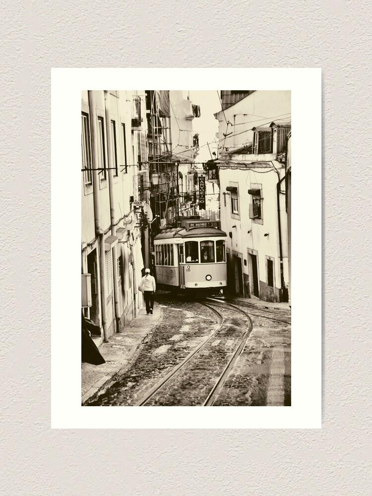 Alternate view of Bus journey in Lisbon Art Print
